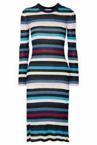 Altuzarra - Stills Striped Ribbed Stretch-knit Midi Dress - Navy