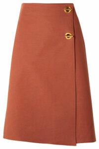 Tory Burch - Ruth Stretch Cotton-blend Wrap Skirt - Antique rose