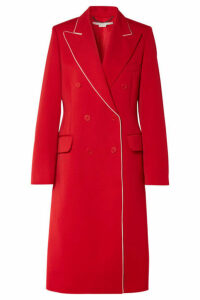 Stella McCartney - Silk-trimmed Wool-twill Coat - Red