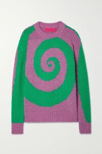 Prada - Houndstooth Wool-blend Tweed Coat - Beige