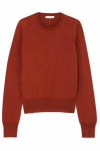 The Row - Den Silk-blend Sweater - Brick