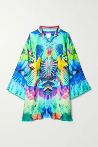 Oscar de la Renta - Frayed Wool-blend Tweed Midi Skirt - Bright pink