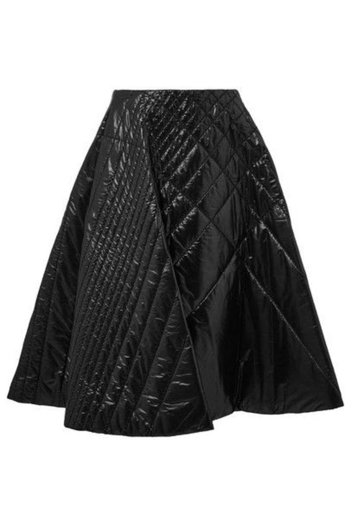 Moncler Genius - + 6 Noir Kei Ninomiya Quilted Shell Midi Skirt - Black