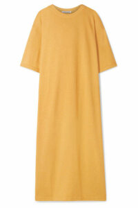 Elizabeth and James - Crawford Oversized Cotton-blend Terry Midi Dress - Marigold