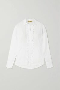 Allude - Wrap-effect Ribbed Wool And Cashmere-blend Midi Skirt - Gray