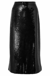 Gucci - Sequined Crepe Midi Skirt - Black