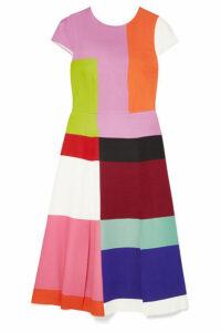 Mary Katrantzou - Osmond Color-block Satin Midi Dress - Pink