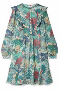 Vilshenko - Camilla Printed Silk-georgette Mini Dress - Green