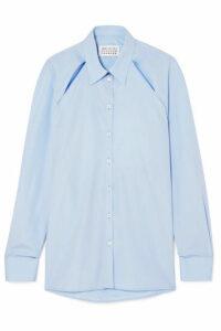 Maison Margiela - Cutout Cotton-poplin Shirt - Blue