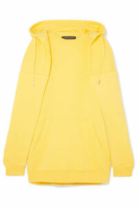 Y/PROJECT - Oversized Layered Cotton-jersey Hoodie - Bright yellow