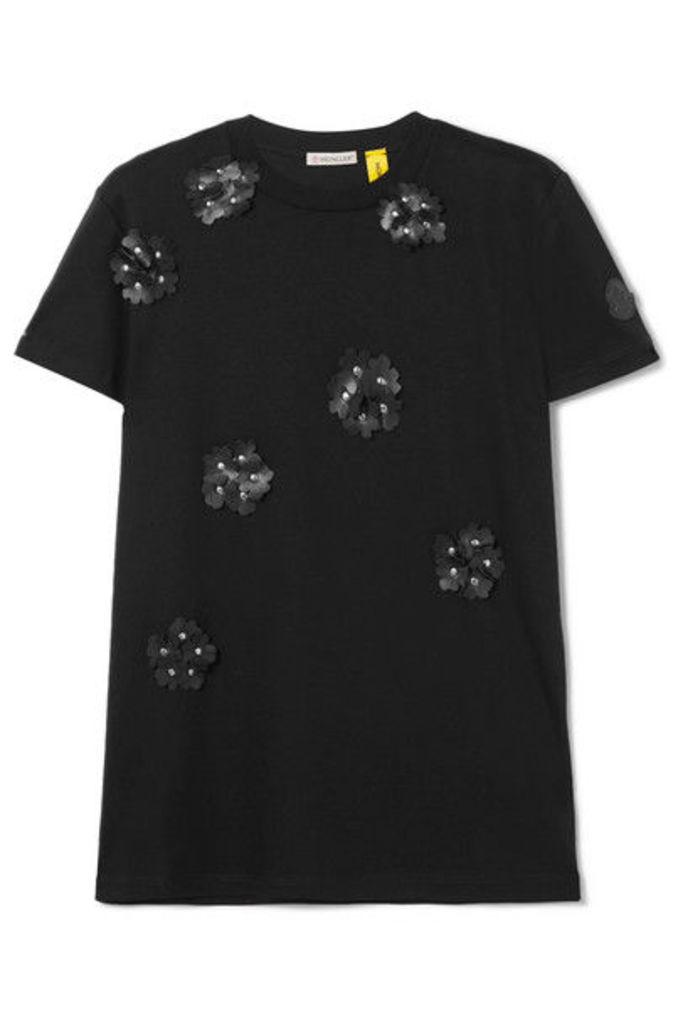 Moncler Genius - + 6 Noir Kei Ninomiya Appliquéd Cotton-jersey T-shirt - White