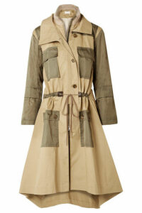 Chloé - Gabardine And Wool-blend Trimmed Twill Trench Coat - Army green