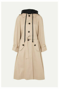 Miu Miu - Oversized Cotton-poplin Trench Coat - Beige