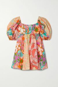 Prada - Printed Crepe De Chine Midi Dress - Orange