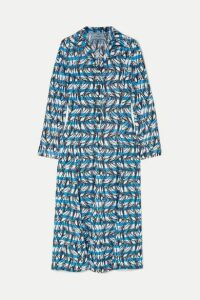 Prada - Printed Twill Shirt Dress - Blue