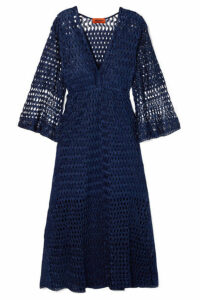 Missoni - Reversible Metallic Crochet-knit Dress - Navy