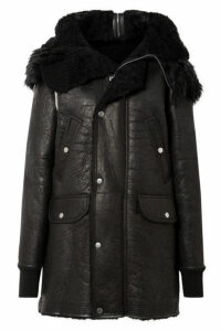 Rick Owens - Hooded Shearling Coat - Black