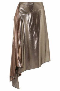 Givenchy - Asymmetric Lamé Midi Skirt - Silver