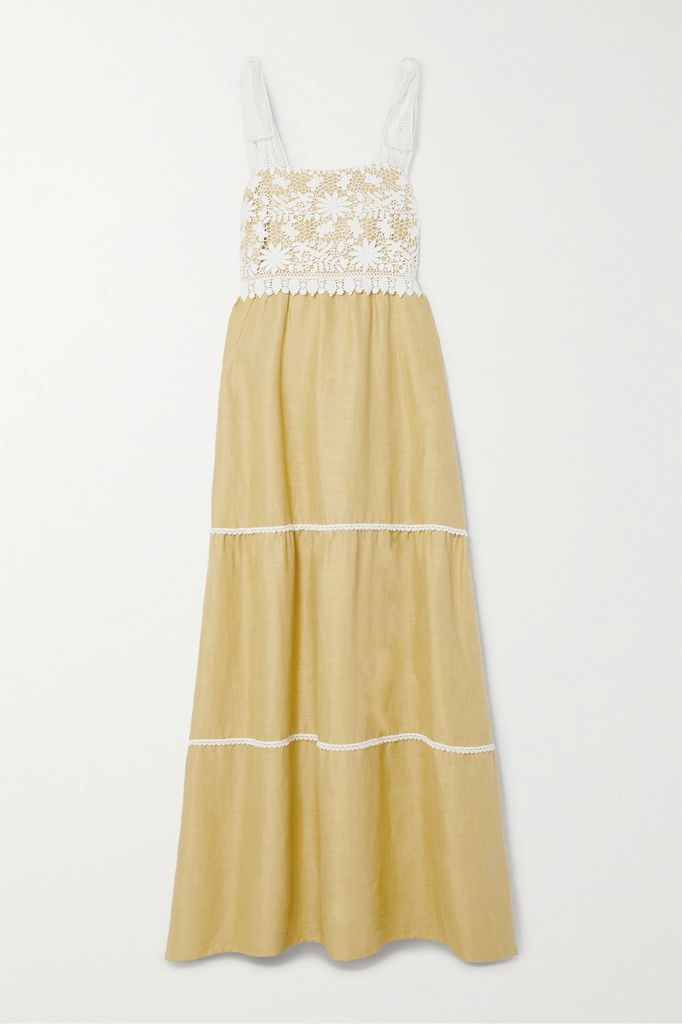 Gucci - Embellished Two-tone Silk And Devoré-velvet Mini Dress - Black