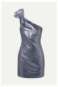 Rachel Zoe - Sarrica One-shoulder Lamé Mini Dress - Navy