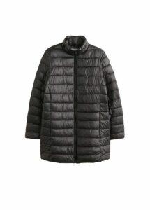Quilted midi coat