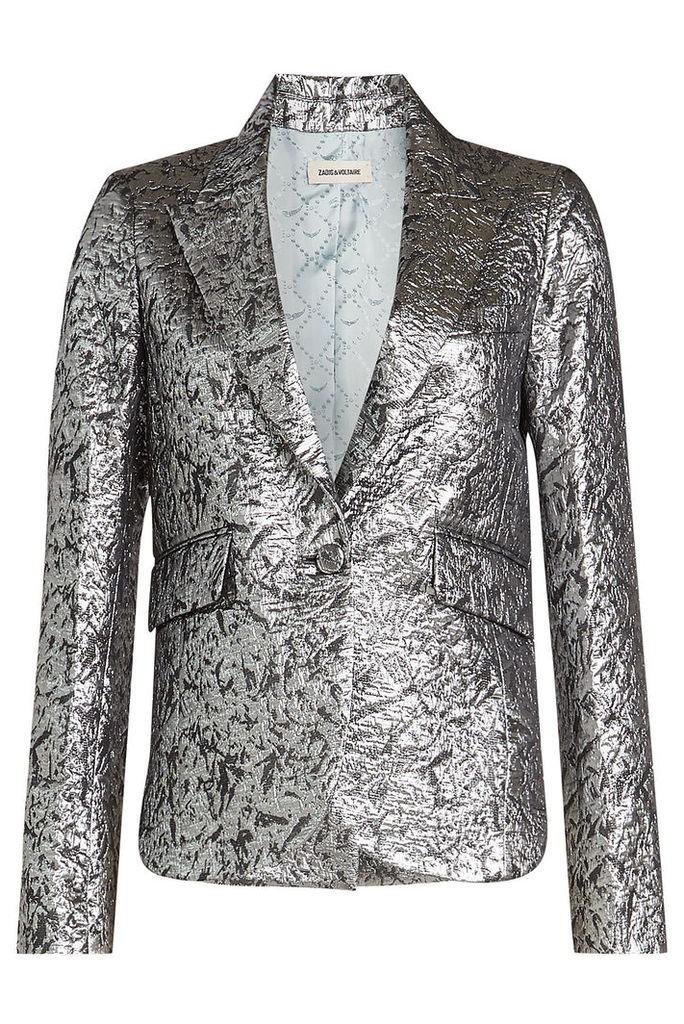 Zadig & Voltaire Vistar Metallic Jacquard Blazer