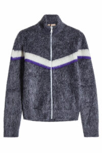 N °21 Zipped Cardigan in Mohair and Wool