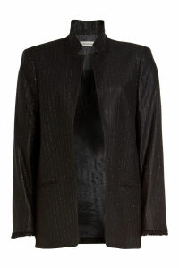 Zadig & Voltaire Volly Stripes Blazer with Wool and Metallic Thread