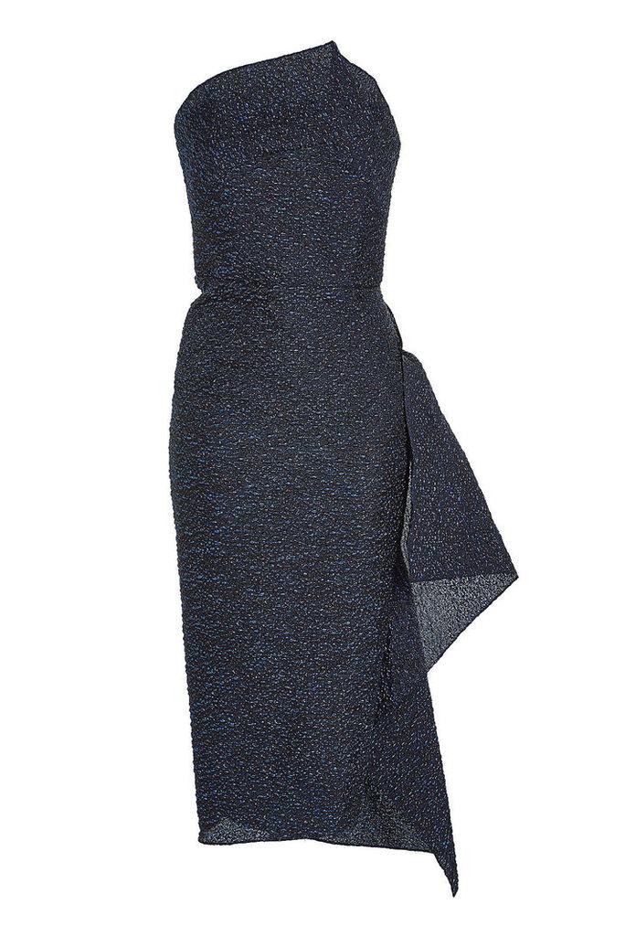 Roland Mouret Flynn Dress with Metallic Thread