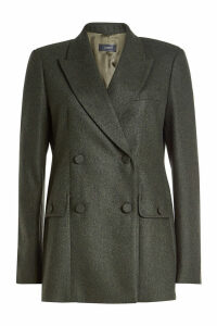 Joseph Moore Herringbone Blazer with Wool