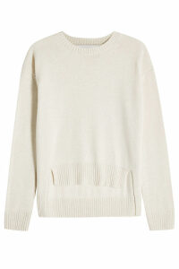 Rosetta Getty Cashmere Pullover with High-Low Hem
