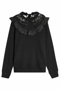 Marc Jacobs Cotton Sweatshirt with Lace