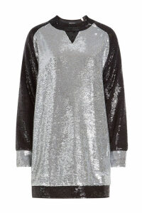 Balmain Sequinned Sweat Dress