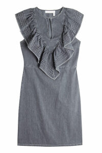 See by Chlo © Denim Mini Dress with Ruffles