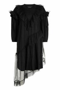 Simone Rocha Dress with Ruffled Tulle Overlay