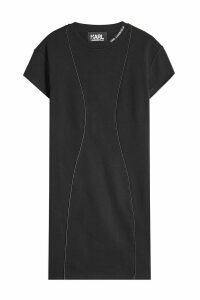 Karl Lagerfeld Cotton Sweat Dress with Pleated Back