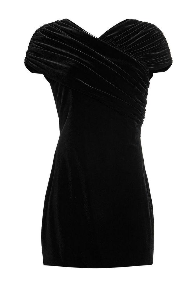Christopher Kane Stretch Velvet Mini Dress