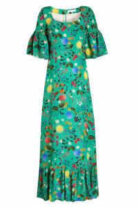 Borgo de Nor Elena Printed Silk Dress