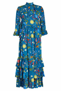 Borgo de Nor Aude Printed Silk Dress