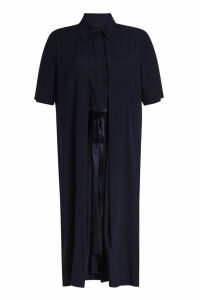 Rosetta Getty Split Front Silk Dress
