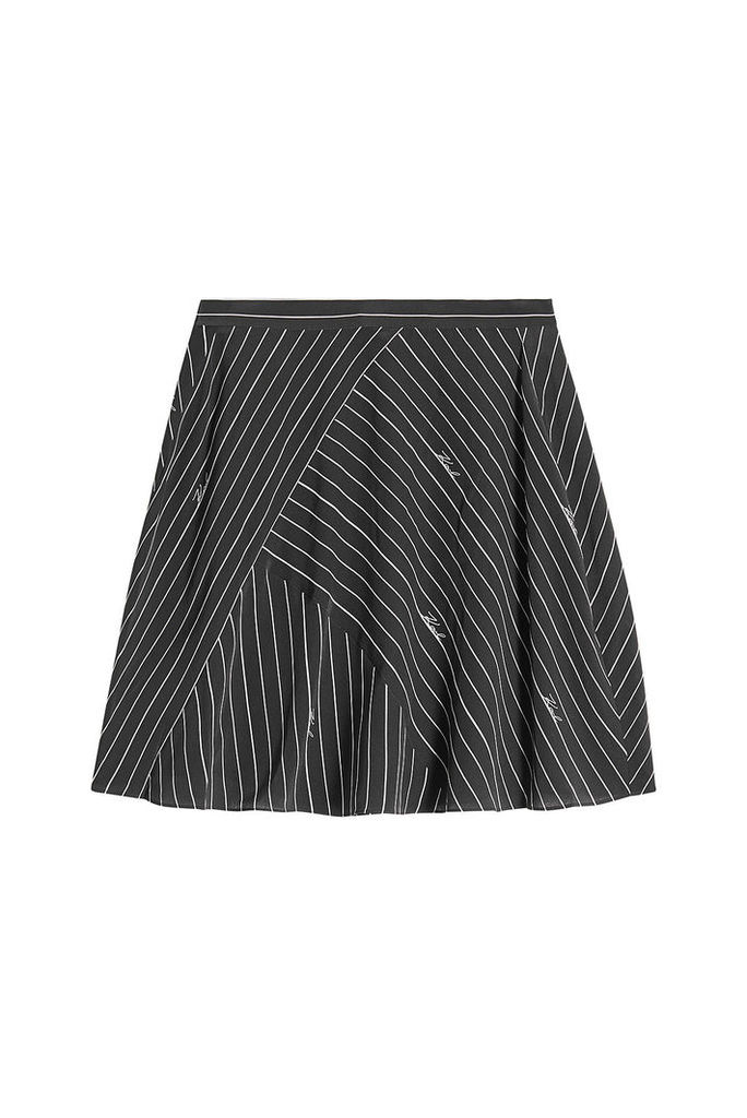 Karl Lagerfeld Pinstripe Silk Skirt