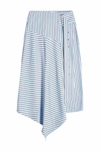 Tibi Asymmetric Striped Skirt