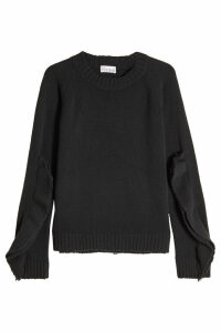 RED Valentino Virgin Wool Pullover with Layered Sleeves