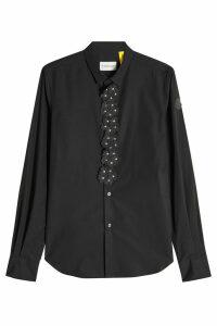 Moncler Genius 6 Moncler Noir Kei Ninomiya Cotton Shirt with Leather Flower