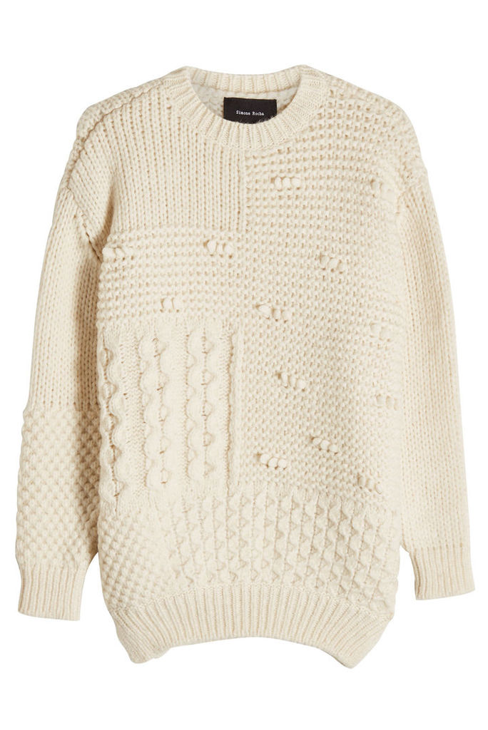 Simone Rocha Patchwork Pullover with Alpaca and Virgin Wool