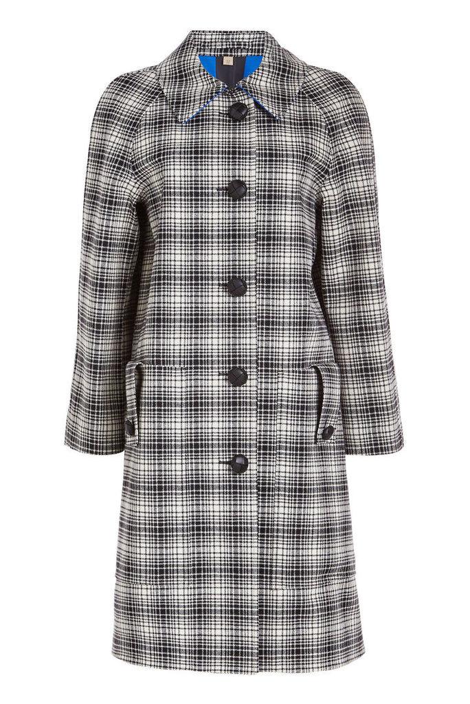 Burberry Walkden Check Wool Coat