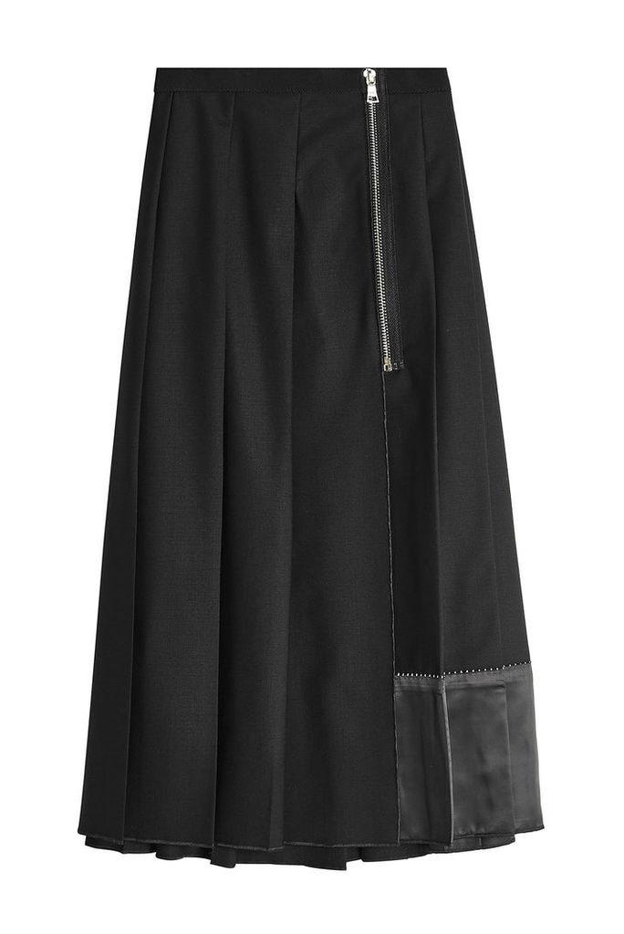 Marc Jacobs Pleated Wool Midi Skirt