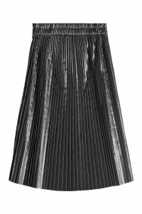 we11done Accordion Patent Skirt