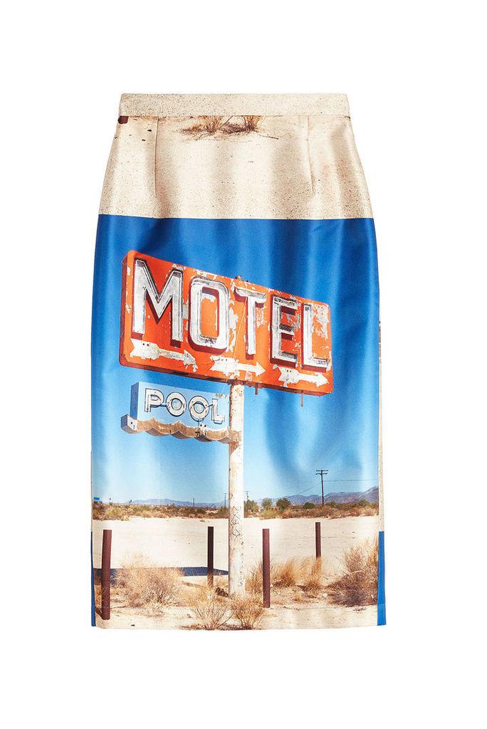 N °21 Printed Pencil Skirt