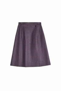 Maison Margiela Micro Herringbone Wool Skirt